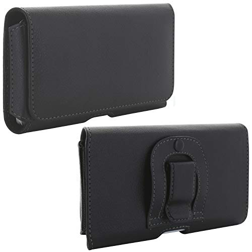 Handy Gürteltasche mit Clip - 1.4 5XL Tasche passend für Cat S32 / S42 / LG K50s / Samsung Galaxy A21s A70s A71 / Xiaomi Redmi Note 8t 9s / 8 Pro / 9 Pro - Gürtel Smartphone Handytasche schwarz
