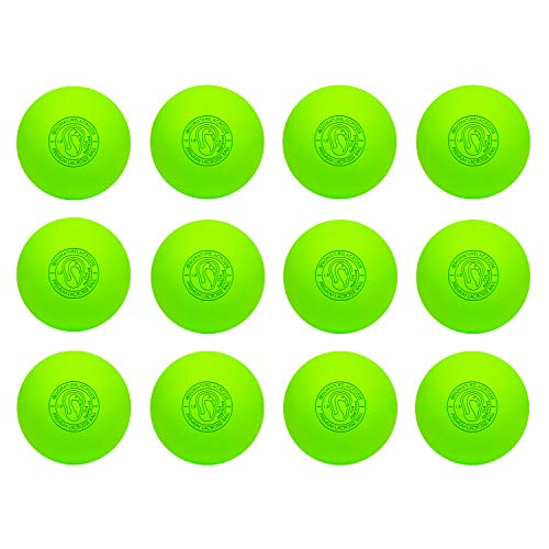 Signature Lacrosse Ball Set - Massage Balls, Myofascial Release Tools, Back Roller, Muscle Knot Remover, Firm Rubber -Scientifically Designed for Durability (Green, 2 Balls)