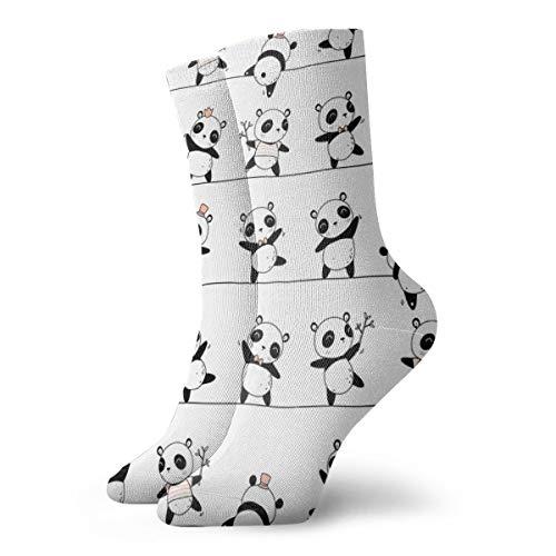 harry wang socken damen 39-42Pandaline - Netter skandinavischer Panda Pattern_3579, farbenfrohes rutschfestes für Männer Frauen 100prozent Baumwolle eine Größe.