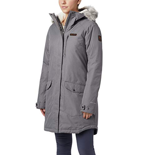 Columbia Women's Suttle Mountain Long Insulated Jacket, City Grey, Small