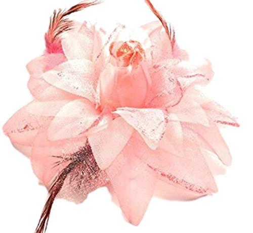 Fashion Jewery Haarblume Haarblüte Haarschmuck Haarspange Hochzeit Feierlichkeit Haarblume Haarblüten(Melone-rot)