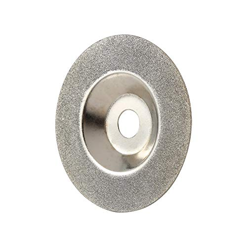 Yosoo Health Gear Muela abrasiva recubierta de Diamante Muela abrasiva de Vidrio de 4 Pulgadas Amoladora de Forma Redonda para Amoladora Angular Disco de Corte 100x16x1mm