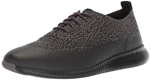 Cole Haan Women's 2.Zerogrand Stitchlite Oxford Winterized, Black/Stormcloud Knit, 9 B US