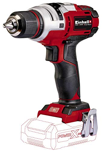 Einhell Perceuse Visseuse sans fil sur batterie TE-CD 18 Li E Solo Power X-Change (18 V, Couple 47 Nm, Mandrin 13 mm monobloc auto-serrant) VERSION SOLO, LIVRE SANS BATTERIE NI CHARGEUR