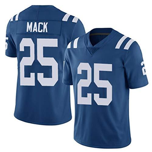 SCHUANG American Football Trikot Indianapolis Colts # 25, Marlon Mack 25# Rugby-Trikot, Stickerei Sport T-Shirt Kurzarm Tops Training Sweatshirt-Royalblue-XXXL