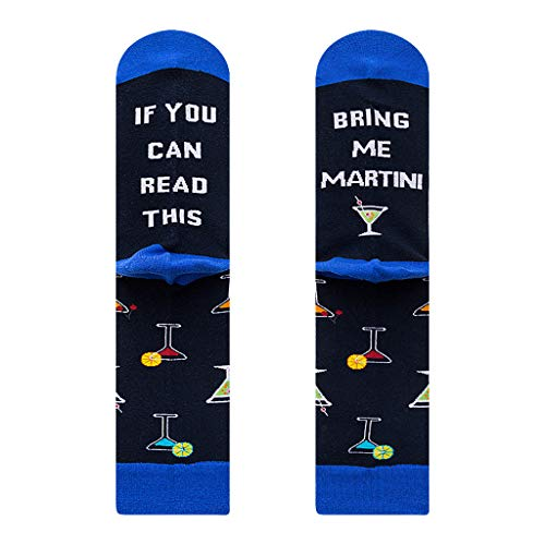 "GGsheng Strumpfwaren mit Aufschrift ""If You Can Read This Socks Bring Me Beer Wine Martini-Buchstaben"