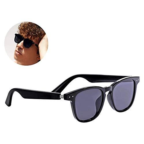HYDDG Bone Conduction Brille, drahtlose Bluetooth 5.0 Kopfhörer, polarisierte Sonnenbrille für Damen und Herren, Stereo-Musik, wasserdichtes Headset mit Mikrofon für iOS Android