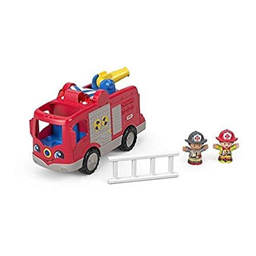 Fisher-Price Little People - Camión de Bomberos para niños, 2 Figuras, Despertar y desarrollar la imaginación, 12 Meses y más, FPV30