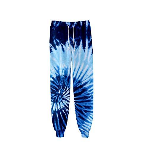 MLX-BUMU Tie Dye 3D Printed Sweatpants Mode Harajuku Joggers Broek Kleurrijke Psychedelische Track Broek Slim Streetwear Mannen/Vrouwen Broek