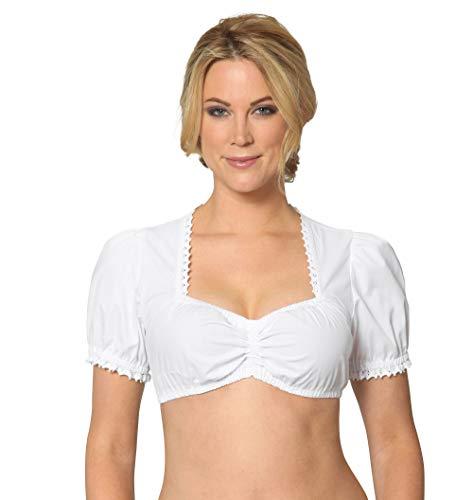 Stockerpoint Damen Trachtenbluse OC-Sabine weiß modern fit (34, Weiß)