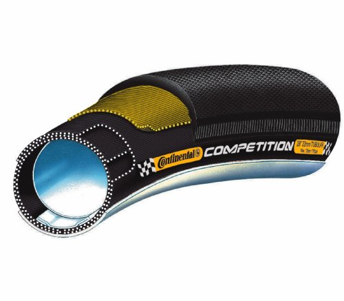 Continental Competition - Tubular para bicicleta de carreras, 28' x 25 mm, negro