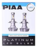 PIAA 26-17313 White H13 Platinum LED Bulb Kit, 4000 lm (25W - 2 Yr Warranty 6000K 9008)