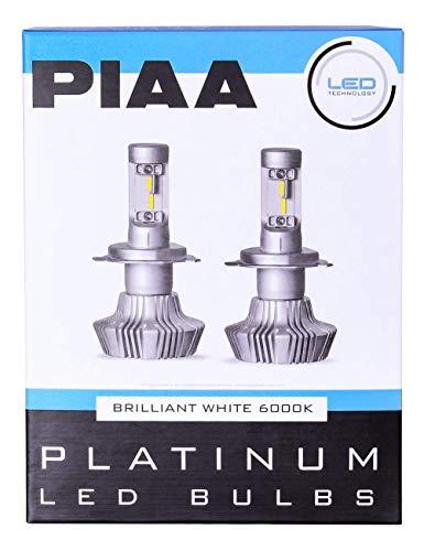 PIAA 26-17313 White H13 Platinum LED Bulb Kit, 4000 lm (25W - 2 Yr Warranty 6000K 9008)