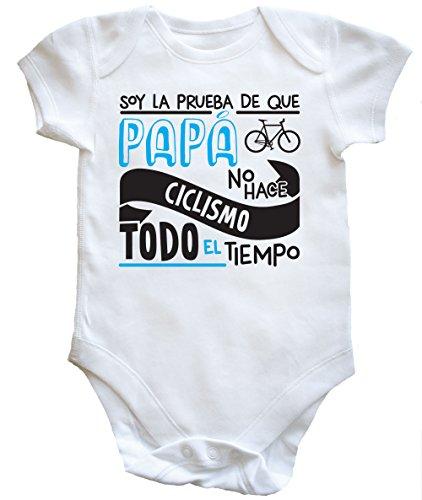 HippoWarehouse Soy La Prueba de Que Papá No Hace Ciclismo Todo El Tiempo Body Bodys Pijama niños niñas Unisex