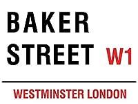 なまけ者雑貨屋 Baker Street メタル ブリキ 看板 アンティーク レトロ 壁飾 20x30cm