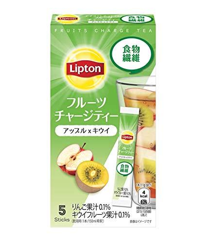 キーコーヒー リプトン フルーツチャージティー スティック アップル&キウイ 5本×4個