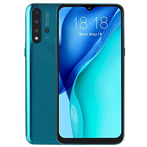 Goshyda Dual SIM gsm Smartphone, (6.26in 1 + 16G) International 3G Waterdrop Pantalla Teléfono Celular Desbloqueado Face ID y Huella Digital Cámara Inteligente AI desbloqueada para Android(Verde)