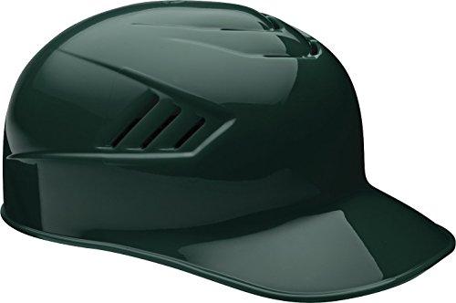 Rawlings Coolflo Clear Coat Alpha Sized Base Coach Helmet, Green, 7 1/2