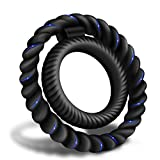 Silicone Dual Penis Ring, Premium Stretchy Longer Harder Stronger Erection Cock Ring Better Sex Erection Enhancing and Orgasm Sex Toy for Male Couple