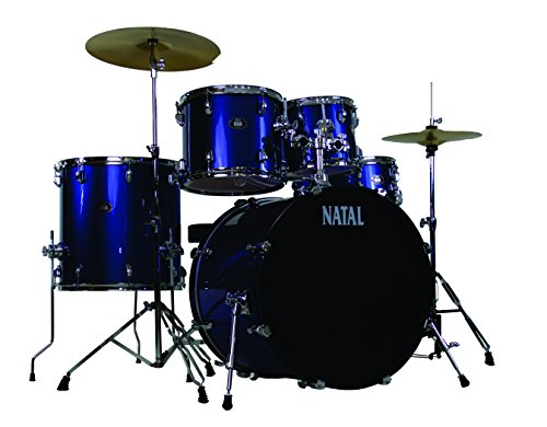 Natal Drums DNA, 5 Drum Set, Blue (K-DN-UF22-BL)