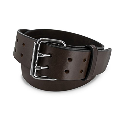 Hanks CCW Belts - The Marshall - USA Made Leather Gun Belt - Concealed Carry - 2In - BRN 32