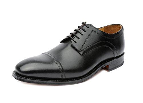 Gordon & Bros Havret 2323, Herren Schnürhalbschuhe (Derby, Leder) schwarz, EU 42