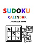 Sudoku Calendar 2021 Page A Day: sudoku puzzles ,easy to medium to hard for kids and adults