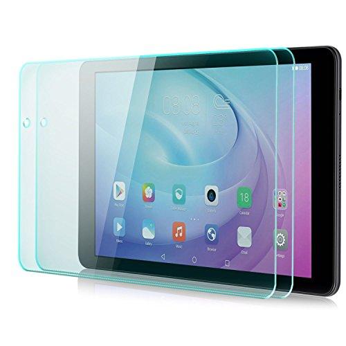 Saxonia zanasta 2 Stück Bildschirmschutz Glas kompatibel mit Huawei MediaPad T2 10.0 Pro Folie aus Gehärtetem Glass (9H Festigkeitgrad) | Klar Transparent