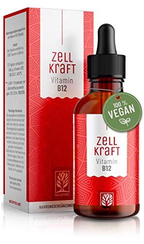 Vitamin B12 Tropfen Hochdosiert - 100{ccf2f15210cb12892d97c3f7e3f8842cc1c2e6f8cd069206bf12916d730b06d6} Vegan - Methylcobalamin mit 200µg je Tropfen - reines Vitamin B 12 50ml - Bioverfügbar, laborgeprüft, ohne Zusätze, hergestellt in Deutschland