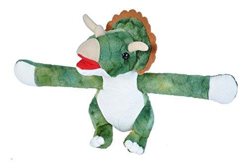 Wild Republic Huggers Triceratops Plush Toy, Slap Bracelet, Stuffed Animal, Kids Toys, 8 Inches