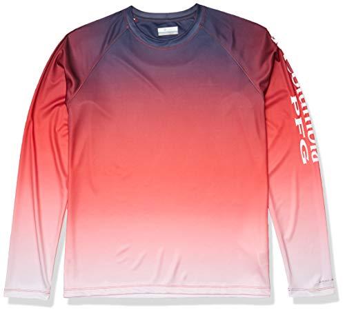 Columbia Damen Super Tidal T-Shirt mit Langen Ärmeln, roter Lilien-Farbverlauf, Größe S