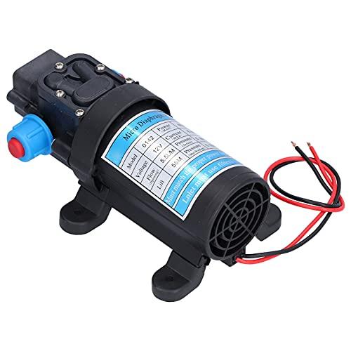 Agatige Bomba de Agua Dulce de CC, Bomba de Micro diafragma eléctrica de Alta presión, Refuerzo de autoaspiración para Autocaravana, jardín, Ducha para Mascotas, 5,5 l/min(12V)