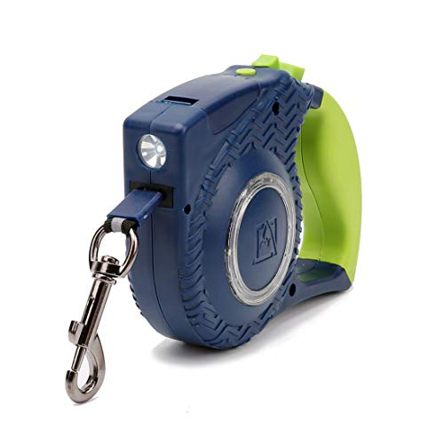 CSMZ Pet Supplies Dog Automatic Retractable trekkabel LED-verlichting, grote en middelgrote Pet Supplies Patrol Rope loopband Traction (Color : Green:4 Meter)