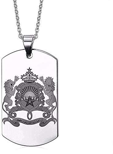 YOUZYHG co.,ltd Collar Rusia Iconos Nacionales Perro Acero Inoxidable 316L Personalizar Collares Pendientes Collar de 60 cm Regalo