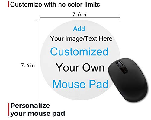 Custom Gaming Mouse Pad Gift - Add Photo, Text, Logo or Art Design and Make Your Own Customized Mousepad. Personalized Non-Slip Rubber Mouse Mat for Desktops, Computer, PC and Laptops 7.6x7.6 Inches.