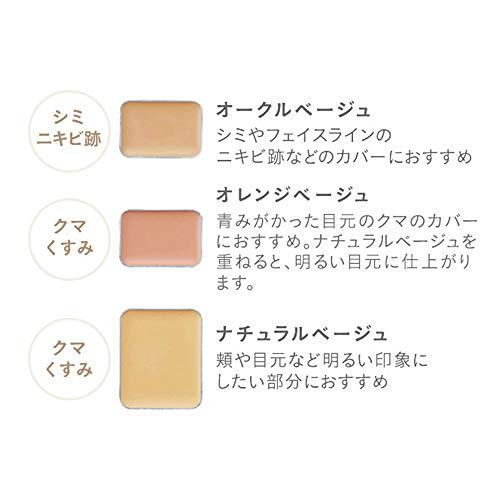 ETVOSミネラルコンシーラーパレットSPF36PA+++3色ブラシ付(クマシミニキビ跡カバー)(ナチュラル/オレンジ/オークルベージュ)石けんオフ