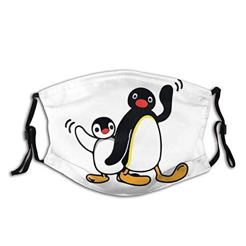 asdew987 Play With Pingu - Máscara facial de algodón ajustable, reutilizable, lavable, unisex para adultos y hombres