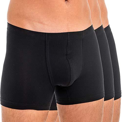 HERMKO 3901 3er Pack Herren Boxershorts Pant aus 100% Bio-Baumwolle, Größe:D 9 = EU 3XL, Farbe:schwarz