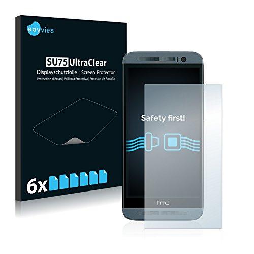 Savvies 6X Schutzfolie kompatibel mit HTC One E8 Bildschirmschutz-Folie Ultra-transparent