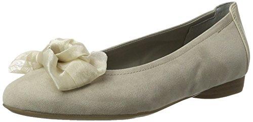 Jenny Damen Pisa Geschlossene Ballerinas, Beige (lino,Cotton), 41 EU
