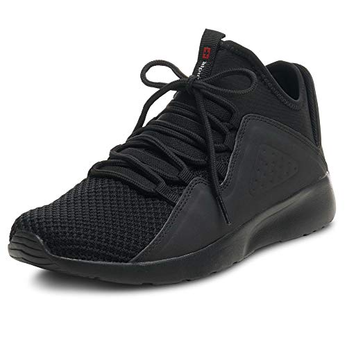 Alpine Swiss Mens Fashion Sneakers Lightweight Knit Tennis Shoes Black 9 M US