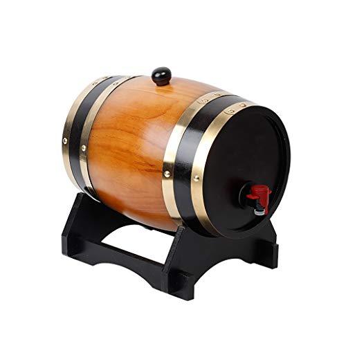 QINGGAGA 5l Holzfass mit Gravur, individuelles Eichenfass für Whisky oder Wein, Fass mit Zapfhahn, Stopfen und Holzbock,Middleyellow,5L