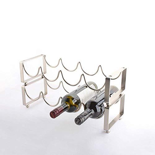 Estante para vino tradicional, estante para botellas, estante para vino, estante para copas de vino, mesa de comedor para 4 botellas, estante para vino de metal, estante para vino de bar