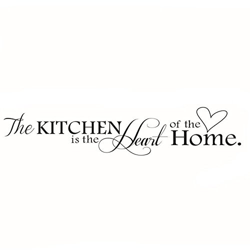 Lchen The Kitchen is The Heart of The Home Wall Sticker Removable Decal Home Decoration