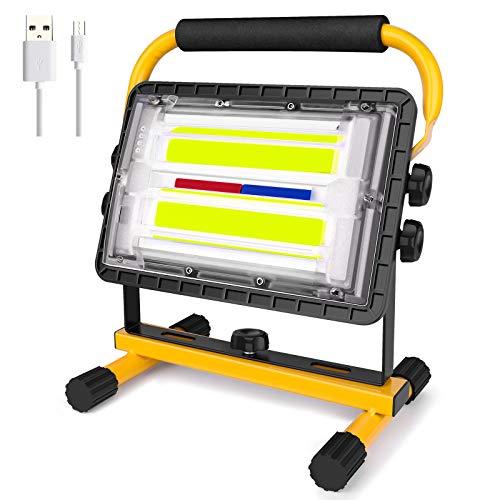 Coquimbo 60W Foco LED Bateria Recargable, Portátil Luz de Trabajo Foco LED Bateria Exterior para Jardín, Taller, Garaje, Camping, Obra