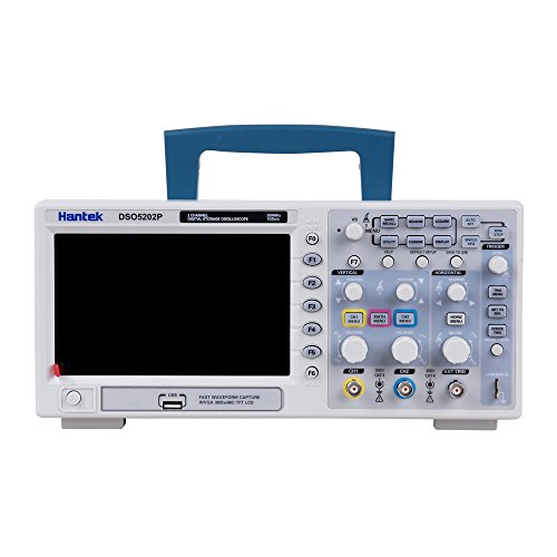 Hantek DSO5202P Osciloscopio digital, 200 MHz, 1Gs, 2CH, pantalla LCD 7 pulgadas, TFT DE