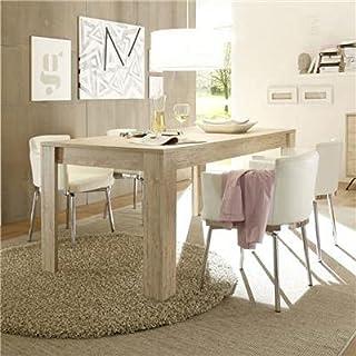 SofaMobili Table de Salle à Manger Couleur Bois Moderne Mallorca