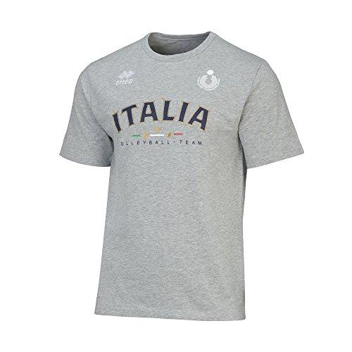 Errea T-Shirt Italia F/W 3154990FIV Grau, Herren, grau, XXL