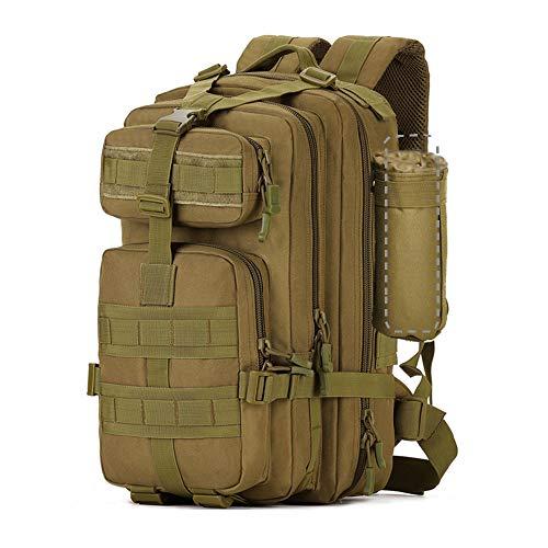 Zology Multifunktionale Große Kapazität Militär Army Tactical Rucksack Wandern Tasche für Camping Outdoor Männer Frauen Rucksacks mit Einer Tasse (40L Braun)