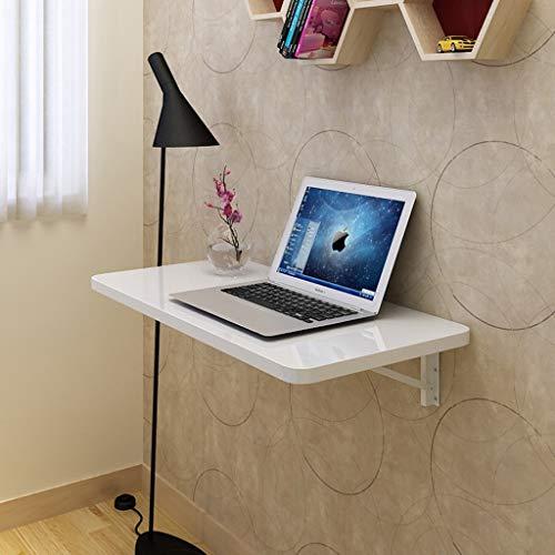 Yxsd Opvouwbaar computerbureau, shingle-rek aan de muur bevestigd roze/wit laptop-bureau grootte naar keuze vrijgesteld